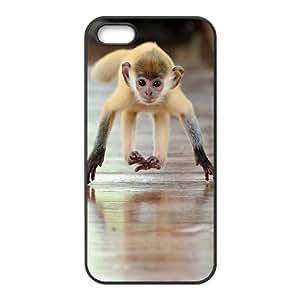 ALICASE Diy Customized Hard Case Monkey for iPhone 5,5S [Pattern-1]