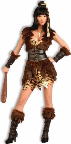Cave Woman Halloween Costume (Forum Novelties Women's Cave Cutie Costume, Brown, Standard)