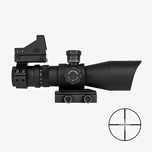 Trinity Force 3-9x42 Tactical Rifle Scope With illuminated P4 Reticle + Backup Micro Dot Sight + QD Mount / Fits Weaver Picatinny Rails Mossberg 715t Ruger SR22 S&W M&P 15-22 by m1surplus