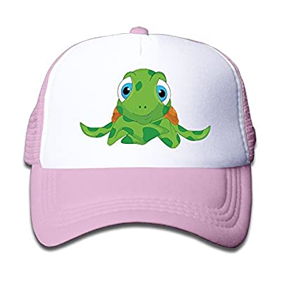 Cute Sea Turtle Cartoon Boy Girl Hats Snapback Mesh Cap Adjustable Baseball Caps Kids Trucker Hat Pink