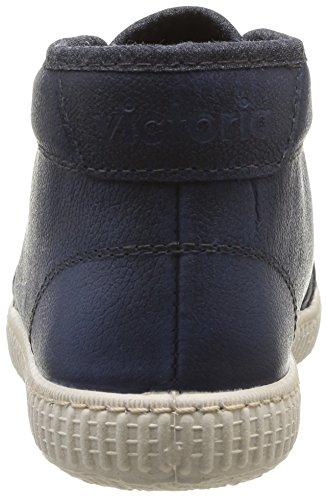Victoria Chukka Piel - Zapatillas de Deporte de cuero Unisex Azul