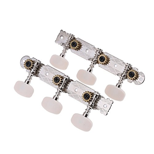 Andoer 2pcs Classical Guitar Tuning Key Peg Tuner Machine