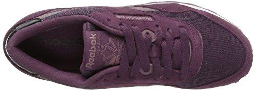 Reebok CL Nylon, Zapatillas de Trail Running Para Mujer Morado (Cozy / Washed Plum / Smoky Orchid / White / Blac)