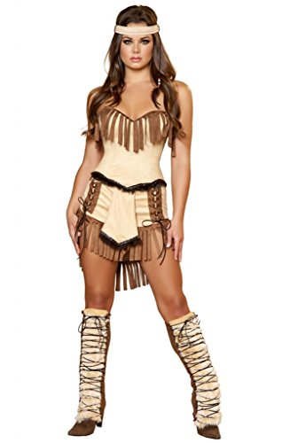 Musotica Sexy Tonto Lone Ranger Indian Halloween Costume Brown/Honey -