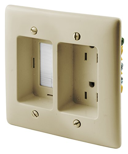 Electric And Cable Wall Plate : Bryant electric nsav w gang box mount recessed tv