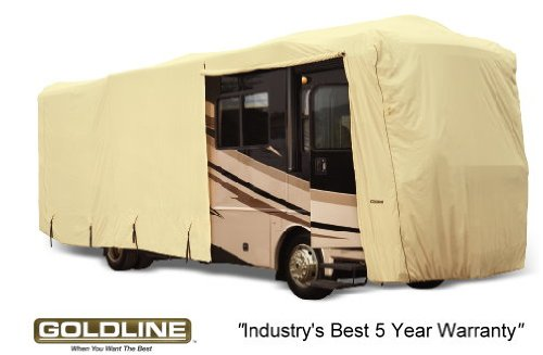Goldline Premium Long Life RV Cover for Class A Motor Home 28-30 Foot, Tan