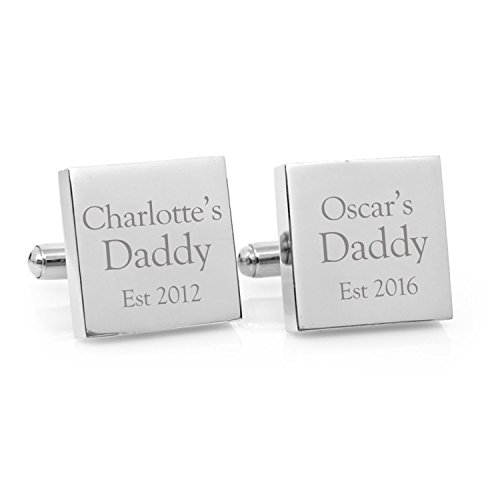 Sahaa Personalized 925 Sterling Silver Cufflinks For Men,Custom Made with Any Name,Gift for Father by Sahaa