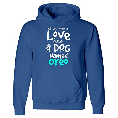 Oreo Dog - MESS A Dog Named Oreo Puppy Lover - Hoodie Royal Blue