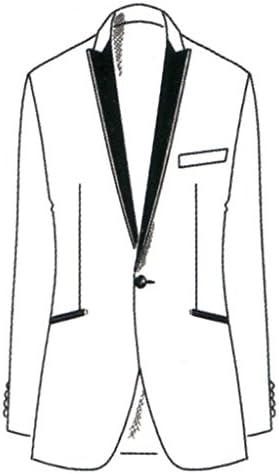 Uni Smoking Homme Noir Schwarz Wilvorst