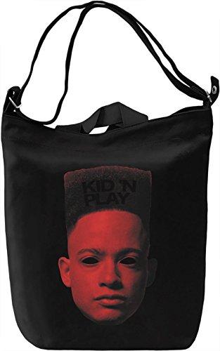 Kid N Play Borsa Giornaliera Canvas Canvas Day Bag| 100% Premium Cotton Canvas| DTG Printing|