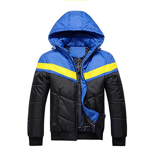 Rambling Fashion Men's Winter Hooded Simple Style Quilted Puffer Coat Padded Jacket Parkas Outwear