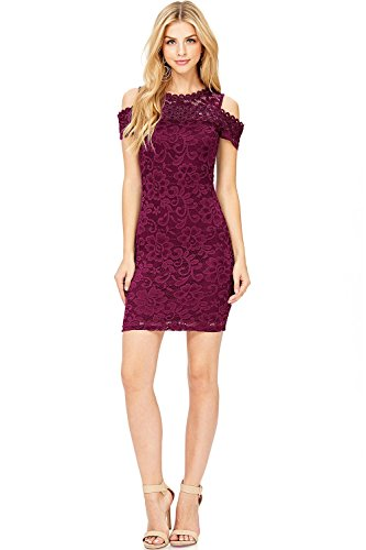 Ambiance Womens Sheer Lace Cocktail Dress