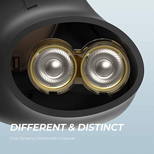 Écouteurs Bluetooth sans Fil Intra-Auriculaires, SoundPEATS Truengine3 Se Noirs, Mini Casque Son Clair Qualité Sonore avec 4 Microphones Intégrés avec Boîtier de Charge