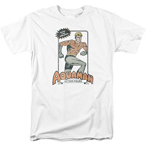 Trevco Dc-Am Action Figure - Short Sleeve Adult 18-1 Tee - White, 5X