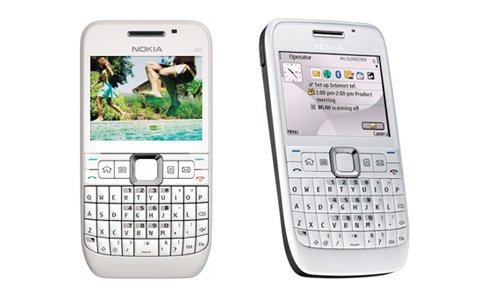 Original Genuine Nokia E63 Unlocked Full Keyboard 3 G Smart Business Mobile Phon (White) by Nokia