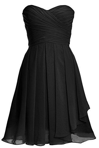Vestito Donna Senza ad Black maniche a MACloth linea xfBgxw