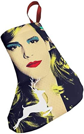 クリスマスの日の靴下 (ソックス3個)クリスマスデコレーションソックス 俳優歌手Emma Stone クリスマス、ハロウィン 家庭用、ショッピングモール用、お祝いの雰囲気を加える 人気を高める、販売、プロモーション、年次式