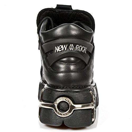 New Rock Boots M.109-c1 Hardrock Punk Gotico Unisex Stiefelette Schwarz