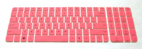 BingoBuy Semi-Pink Ultra Thin Backlit Soft Silicone Keyboard Protector Skin Cover for 17.3-inch HP Pavilion ENVY dv7-7 dv7t-7 g7-2 m7-1 series, such as dv7-7230us, dv7-7240us, dv7-7255dx, dv7-7250us, dv7t-7300, g7-2340dx, g7-2226nr, g7-2275dx, m7-1015dx(if your