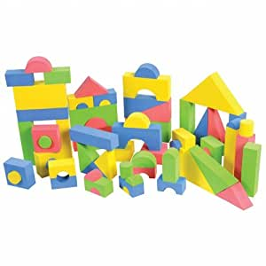 Non toxic 68 piece foam wonder blocks for for Foam building blocks for houses