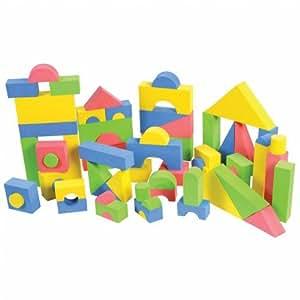 Non toxic 68 piece foam wonder blocks for for Foam blocks building construction
