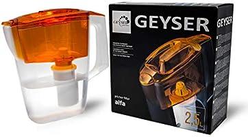 Geyser Jarra con Filtro purificador de Agua Alpha (Naranja ...