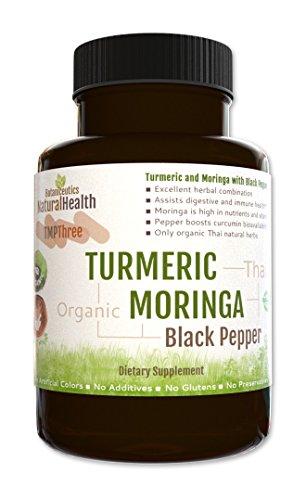 Botaniceutics Organic Turmeric, Moringa, and Black Pepper – 120 Capsules – 500 Mg. No additives, no fillers. Natural turmeric curcumin, moringa, and pepperine for natural, good health Review