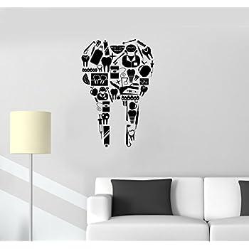 Amazon.com: Large Vinyl Decal Tooth Dentist Tools Dentistry Dental ...