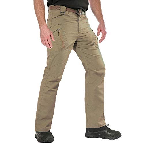 (ReFire Gear Men's Military Tactical Cargo Pants Ripstop Cotton Camo Outdoor Work Trousers )