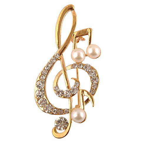 Brooches Jewelry Costume Animal (Pusheng Shining Animals Music Shape Christmas Pearl Crystal Corsage Brooch Pin Breastpin)