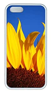 iPhone 5S Customized Unique Landscape Flowers Sunflower 5 New Fashion TPU White iPhone 5/5S Cases