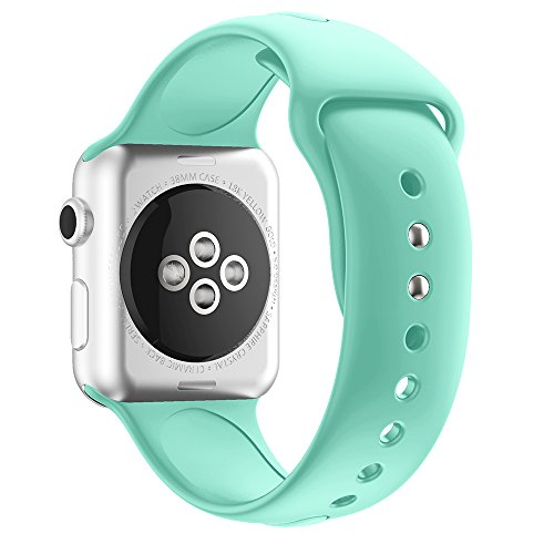 YASSUN Sport Band for Apple Watch 42mm/38mm, Soft Silicone Strap Replacement Wristbands for Apple Watch Sport Series 3/Series 2/Series 1/Nike+