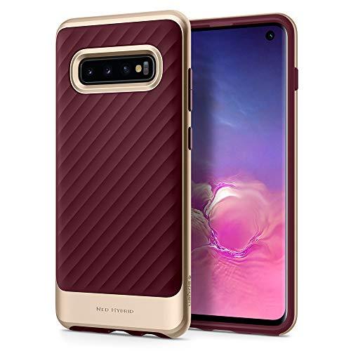 (Spigen Neo Hybrid Designed for Samsung Galaxy S10 Case (2019) - Burgundy)