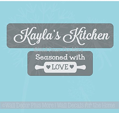 (Vinyl Sticker Decal Stencil for Etching Glass Casserole Dished, Personalized Gift Idea)