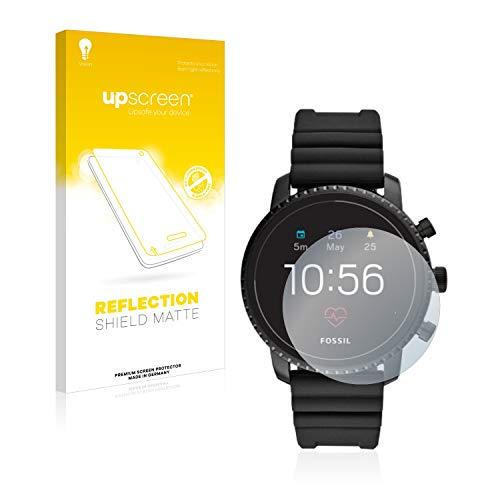 upscreen Entspiegelungs-Schutzfolie kompatibel mit Fossil Q Explorist HR (4.Gen) – Anti-Reflex Displayschutz-Folie Matt
