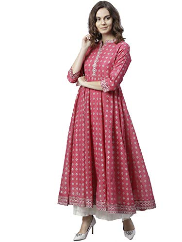 Designer Kurta Kurti Indian Ethnic Top Tunic Party Wear Women Dress Blouse (S)