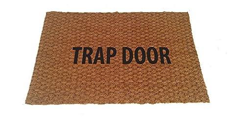 Trap Door Doormat - Indoor/outdoor Mat (Humor Doormat)