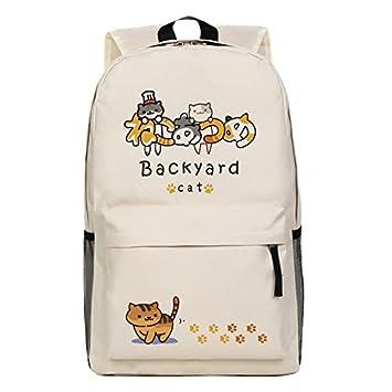Japanese Game Neko Atsume ねこあつめ Cute Cat Backyard kitty collector Shoulder  Bag Backpack School Bag C  Amazon.co.uk  Office Products 04155e83068b0