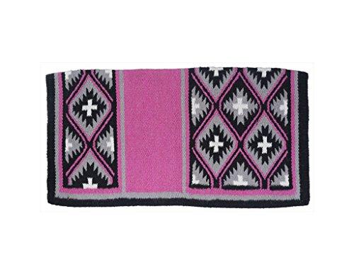 Tough 1 Sequoyah Wool Saddle Blanket Pink by Tough 1