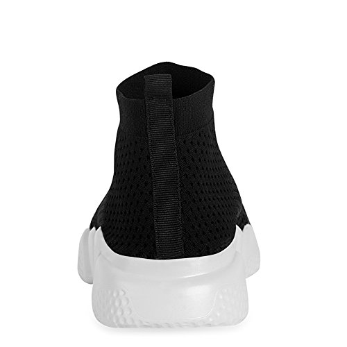 YALOX Men's Walking Shoes Lightweight Slip On Sneakers Fashion Casual Breathable Athletic Running Shoes(42EU,Black-2) by YALOX (Image #7)