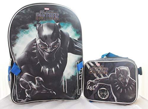 Marvel Black Panther Boys School Backpack Bookbag Lunch Bag Combo SET Kids -