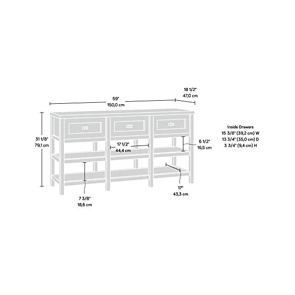 """Sauder Cottage Road Credenza, For TV's Up To 60"""", Soft White finish"""