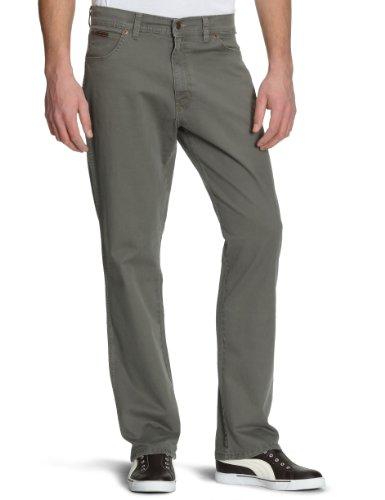 Pantaloni army Wrangler Uomo Grey Texas Grigio Stretch xB7npqw