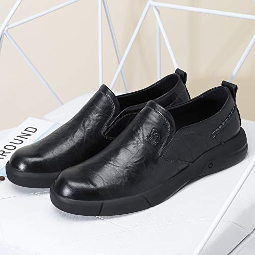 a8ad34e775d81 CAMEL CROWN Mens Genuine Leather Shoes Casual Slip On Dress Loafers ...