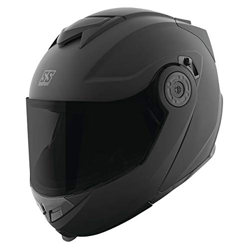 Speed and Strength SS1710 Solid Men's Street Motorcycle Helmet - Matte Black/Large