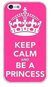 Keep Calm and Be a Princess Pink 3in1 Best Hard for 4,Diy For Iphone 6 Case Cover White