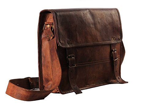 handmadecart auténtica funda de piel bolso bandolera Natural (para 13
