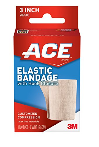 Ace Elastic Bandage With Hook Closure  3 Inches Width  Pack Of 2