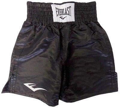 Everlast Standard Boxing Trunks - 21 inch (All Black) - XL
