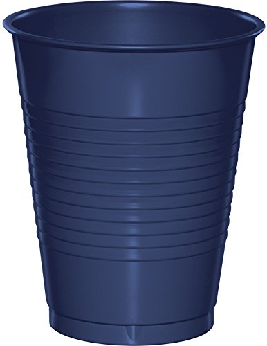 (Creative Converting 28113781 Plastic Cups, 16 oz, Navy (20 Count))